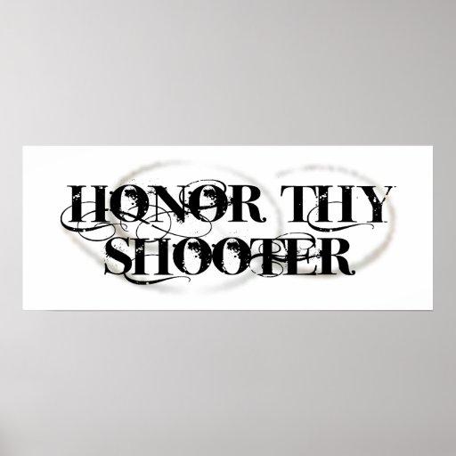 Honre a Thy pistola Impresiones