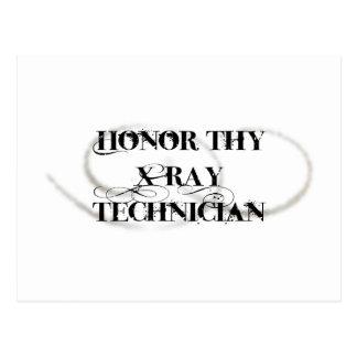 Honre a Thy técnico de la radiografía Tarjeta Postal