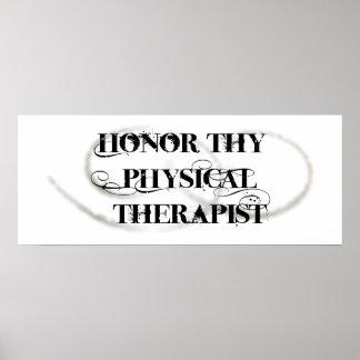 Honre a Thy terapeuta físico Impresiones