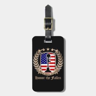 Honre caido - escudo etiquetas para equipaje