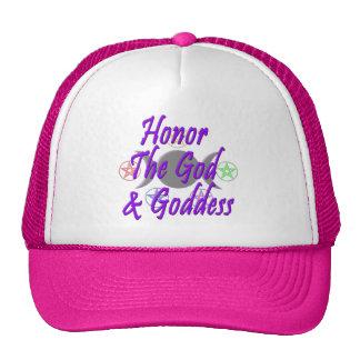Honre dios y a la diosa gorras de camionero