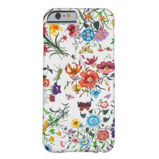 honre el caso floral del iPhone 6 de la bufanda Funda De iPhone 6 Barely There