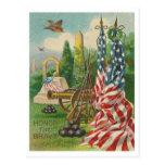 Honre el valiente tarjeta postal