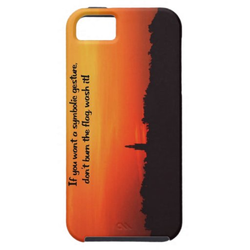 Honre la bandera iPhone 5 carcasas