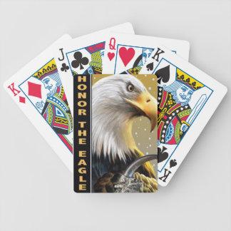 Honre los regalos y la ropa de la garra de Eagle Baraja Cartas De Poker