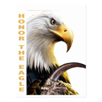 Honre los regalos y la ropa de la garra de Eagle Tarjeta Postal