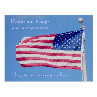 Honre nuestra postal de las tropas