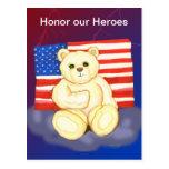 Honre nuestra postal del peluche de los héroes