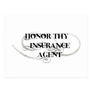 Honre Thy agente de seguro Postal
