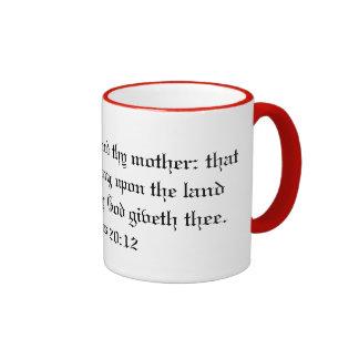 Honre Thy taza del padre y de la madre