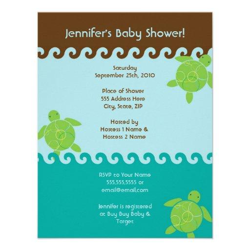 Honu agita la fiesta de bienvenida al bebé - 4,25  anuncio personalizado