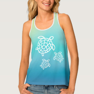 Honu Beach Ocean Sea Turtles Tank Top