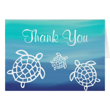 Beach Themed Honu Beach Ocean Turtles Thank You Card