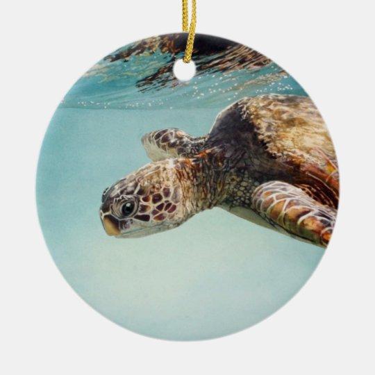 Honu by Marilyn Wear Ceramic Ornament