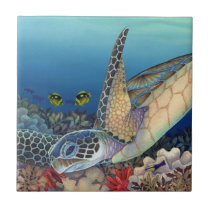 Honu (Green Sea Turtle) Ceramic Tile