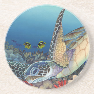 Honu (Green Sea Turtle) Drink Coaster