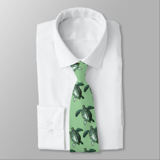 Honu - Green Sea Turtle Neck Tie