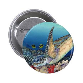 Honu (Green Sea Turtle) Pinback Button