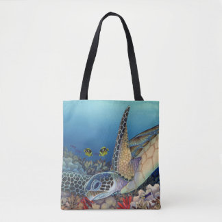 Honu (Green Sea Turtle) Tote Bag