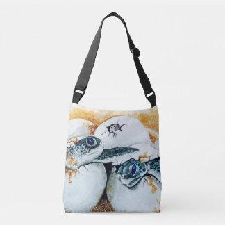 Honu Hatchlings (Green Sea Turtle) Crossbody Bag