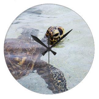 Honu Hawaiian Sea Turtle - Hawaii Turtles Large Clock