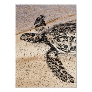 "Honu - Hawaiian Sea Turtle 5.5"" X 7.5"" Invitation Card"