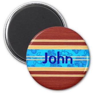 Honu Hawiian Fake Wood Surfboard Refrigerator Magnets