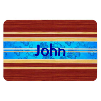 Honu Hawiian Fake Wood Surfboard Magnets