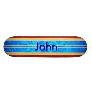 Honu Hawiian Fake Wood Surfboard Custom Skateboard