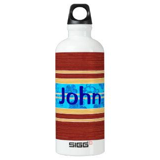 Honu Hawiian Fake Wood Surfboard Water Bottle