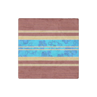 Honu Hawiian Faux Wood Surfboard Stone Magnet