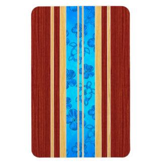 Honu Hawiian Faux Wood Surfboard Vinyl Magnet