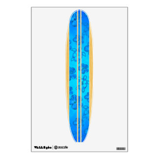 Honu Hawiian Faux Wood Surfboard Wall Sticker