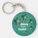 Honu Sea Family_circle Basic Round Button Keychain