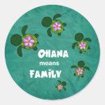 Honu Sea Family_circle Classic Round Sticker