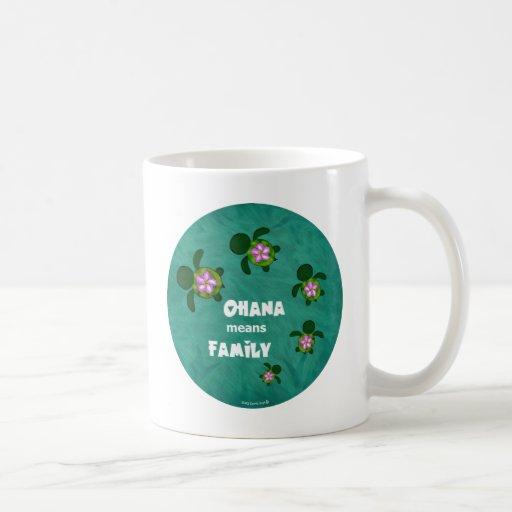 Honu Sea Family_circle Classic White Coffee Mug