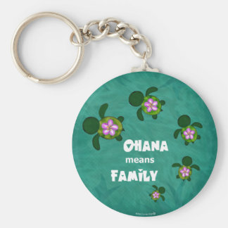 Honu Sea Family_circle Key Chain