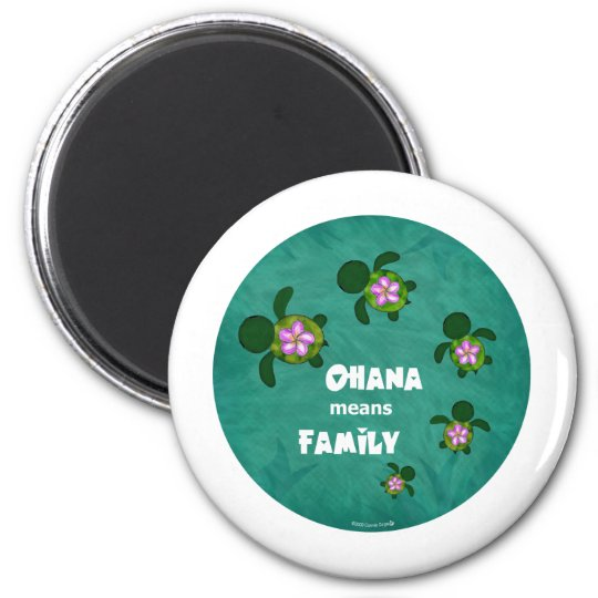 Honu Sea Family_circle Magnet