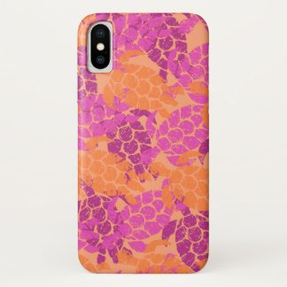 Honu Sea Turtle Hawaiian Aloha Pink iPhone X Case