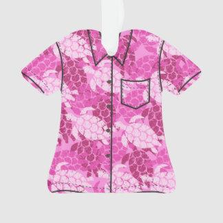 Honu Sea Turtle Hawaiian Aloha Shirt Ornament