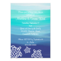 Honu Sea Turtles Couples Baby Shower Card