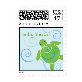 Honu Swirl Baby Shower Custom US Postage Stamp