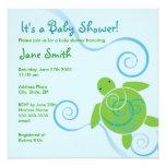 Honu Swirls Baby Shower or Birthday Invitation