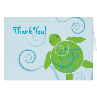 Honu Swirls Thank You Card
