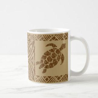 Honu Tapa Hawaiian Primitive Turtle Coffee Mug