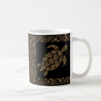 Honu Tapa Hawaiian Primitive Turtle Coffee Mug