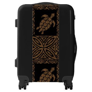 Honu Tapa Hawaiian Primitive Turtle Luggage