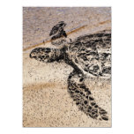 Honu - tortuga de mar hawaiana invitación 13,9 x 19,0 cm