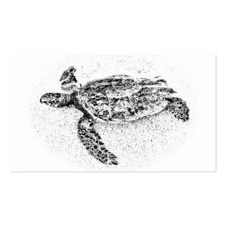 Honu - tortuga de mar hawaiana tarjetas de visita