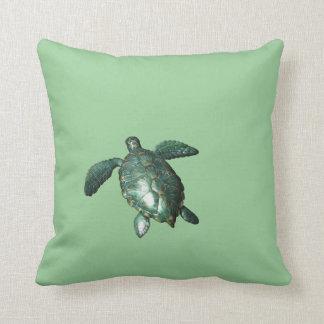 Honu - tortuga de mar verde hawaiana cojín
